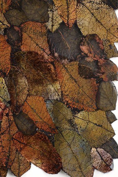 Leaf Cloth Series - Transmutations 1 (detail) - Lesley Richmond