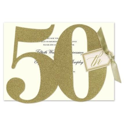 Glittered 50th Invitations - Anna Griffin