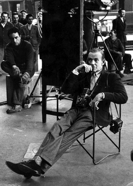 Фред Астер - серые фланелевые брюки с манжетами