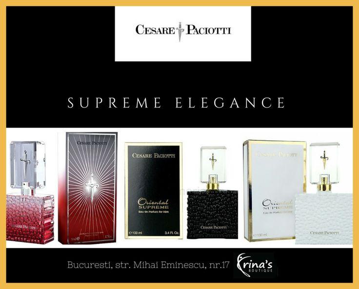 Daca eleganta, stilul si rafinamentul te caracterizeaza, atunci parfumurile Cesare Paciotti sunt alegerea potrivita! Notele Oriental Florale (pentru ea) si Oriental Condimentate (pentru el), vor atrage si cele mai sofisticate gusturi.  Vino la Irina's Boutique si simte mirosul elegantei cu parfumurile Cesare Paciotti! #irinasboutique #cesarepaciotti #parfum #barbati #femei
