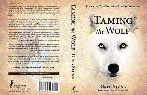 The designer has choose to use white and a little bit brown color to be the background color for the book cover and this has applied to both front and back of the book cover. I think this kind of design coudl let audience feel more confortable as the colors been used are simple. The image at the front side of book cover is the face of a wolf which has express the context of the book quite clear that the viewer would understand what will be seen in the book staight away.