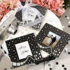 Balck and White Stars Photo Glass Coaster Favour