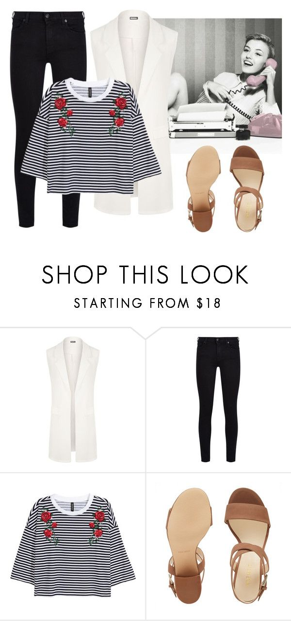 """""""Easy Peasy"""" by dvorska-michaela on Polyvore featuring WearAll, 7 For All Mankind, Nine West, neutral, women and ordinarybutgood"""