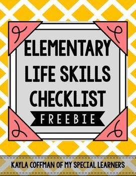 This freebie is an editable Word document for your elementary classroom. These are basic life skills that we would like to see the students in my classroom doing by the time they leave 5th grade! I send home this form at the beginning of each school year. Download this great FREE resource at: https://www.teacherspayteachers.com/Product/Special-Education-Forms-Life-Skills-for-Elementary-1949204