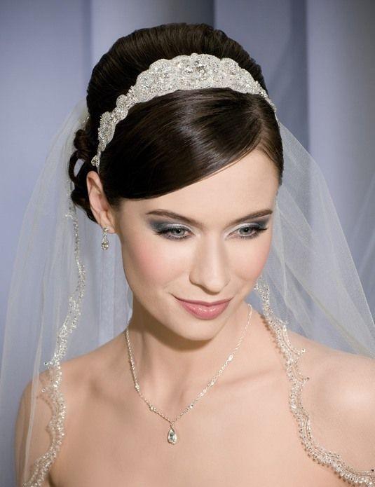 mantilla wedding veil with headband