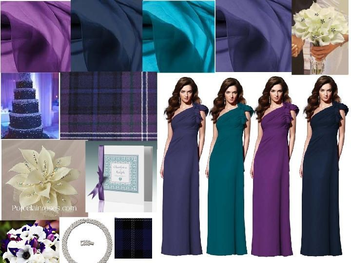 Peacock bridesmaid dresses!