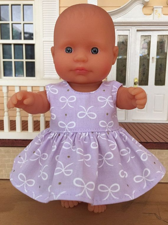 White Bows on Mauve Summer Dress by DebsDollsClothes on Etsy