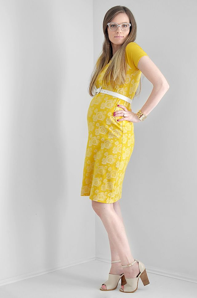Yellow dress maternity