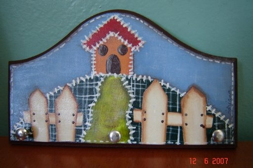 porta chaves: Keychain, Pinturas Ems, Painting Ems