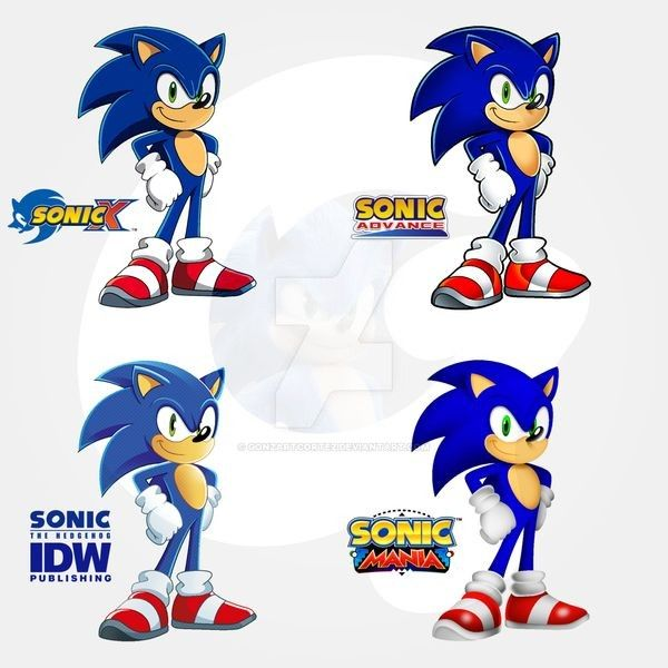Sonic The Hedgehog Styles By Gonzartcortez On Deviantart In 2020 Sonic Sonic The Hedgehog Sonic And Shadow