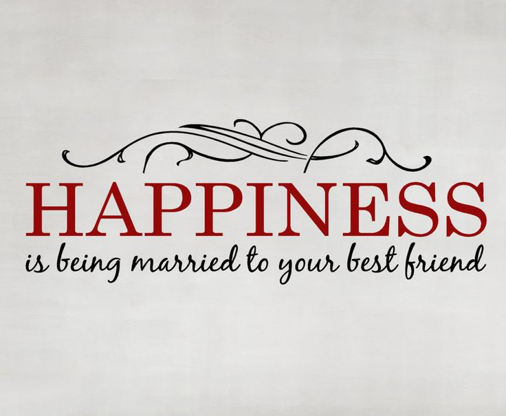 Happiness is being Married to your Best Friend Wall Words Vinyl Lettering Decal quote, Wedding Gift, Anniversary,  for Bride and Groom. $29.00, via Etsy.