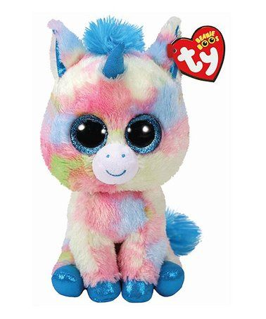 c10e65e39d0 This Blitz Blue Unicorn Beanie Boo Plush Toy is perfect!  zulilyfinds