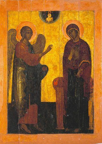 copie de l'Annonciation de la Cathédrale de l'Archange-Saint-Michel de Moscou (XVI s.)