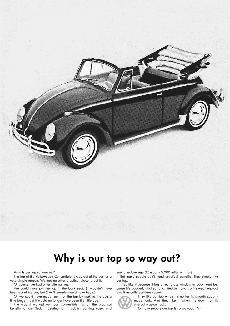 Volkswagen Ad - Why Is Our Top