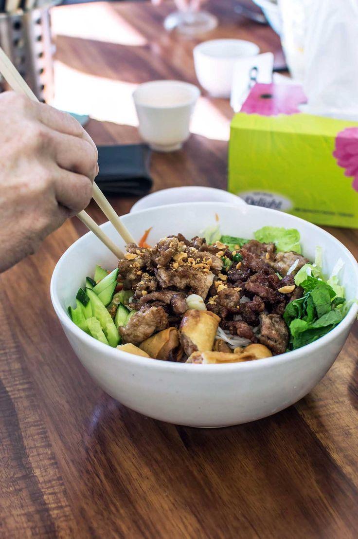 Bun thit nuong & cha gio at Tra Vinh, Inala | heneedsfood.com