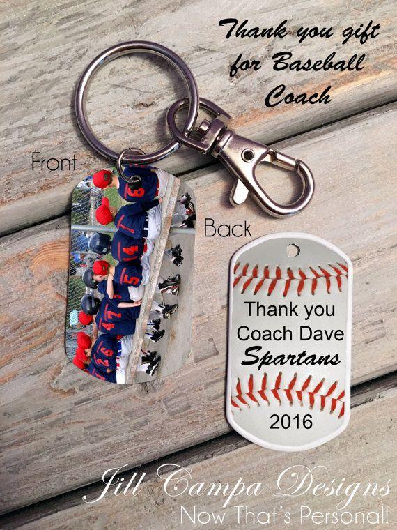 Gift for Baseball Coach Custom photo key by NowThatsPersonal