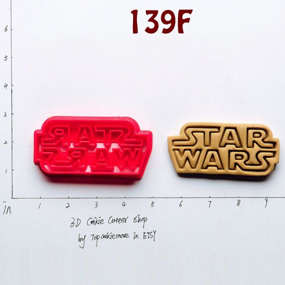 Star wars Cookie Cutter notaa star wars baby star by TopCookieMore