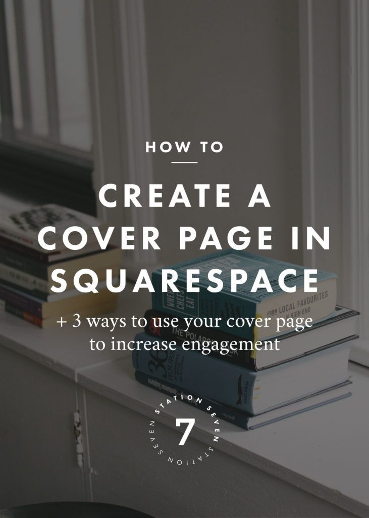 how to create a cover page in squarespace