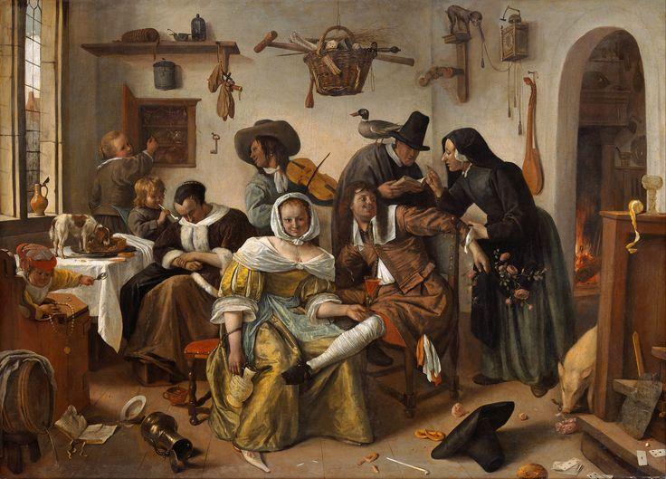 """Jan Steen - Beware of Luxury (""""In Weelde Siet Toe"""")"""