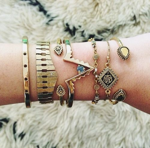 These Bohemian bracelets are a great accessory for fall. #Fall #Jewelry