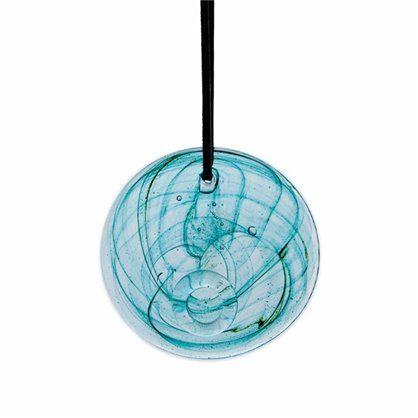 Szklana zawieszka 14, turquoise