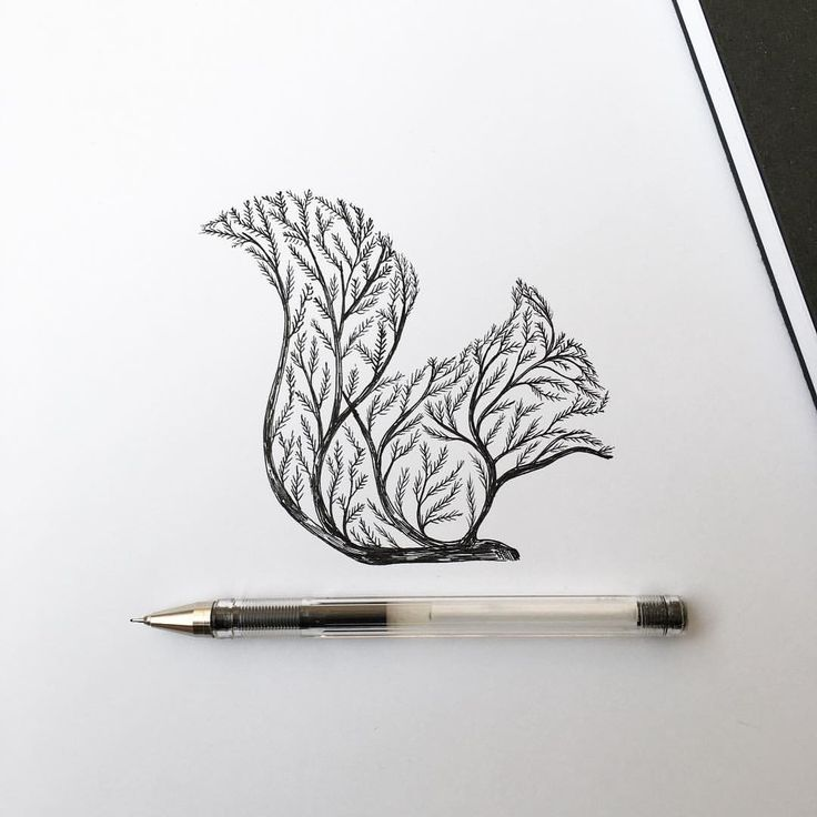 Squirrel Tree #tattoo #drawing #squirrel                                                                                                                                                     More