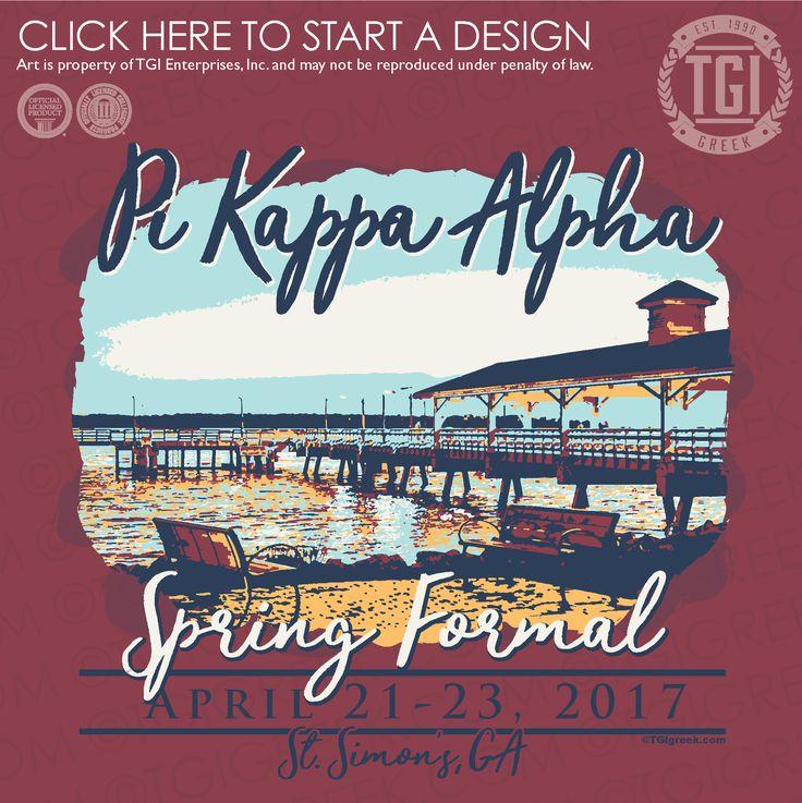 Pi Kappa Alpha | ΠKA | Pike | Spring Formal | Formal Shirt | St. Simon's Georgia | TGI Greek | Greek Apparel | Custom Apparel | Fraternity Tee Shirts | Fraternity T-shirts | Custom T-Shirts