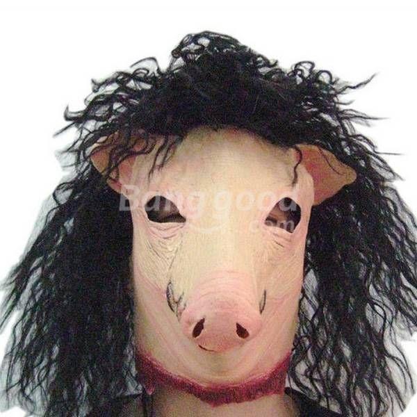 Halloween Animal Pig Headgear Simulation Latex Pig Mask