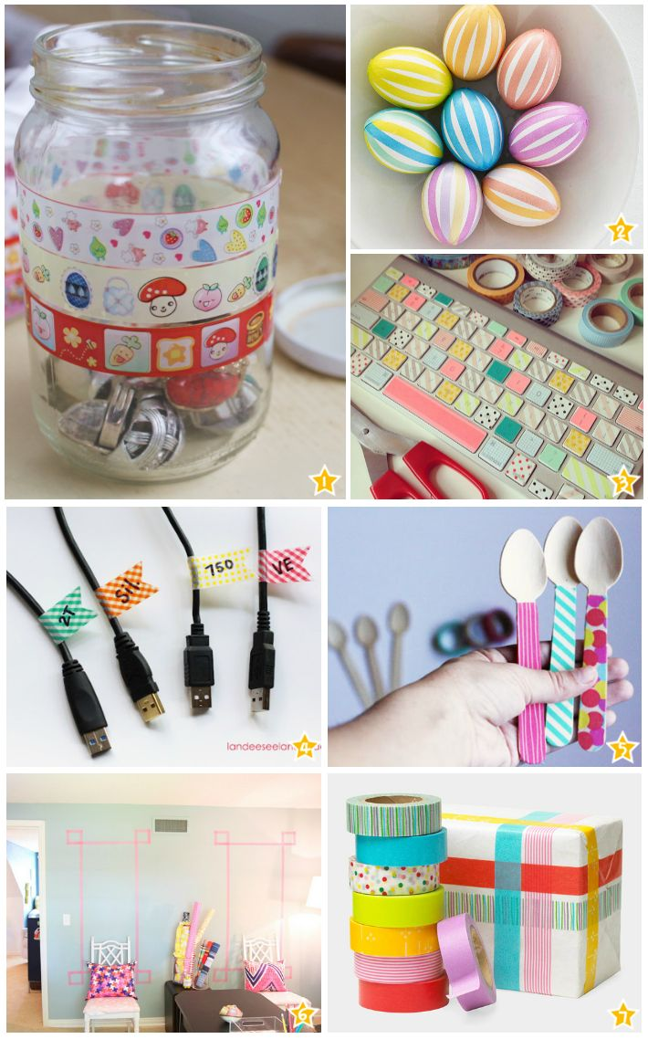 17 Best images about Washi Tape is Cool on Pinterest  ~ 185320_Washi Tape Dorm Room Ideas