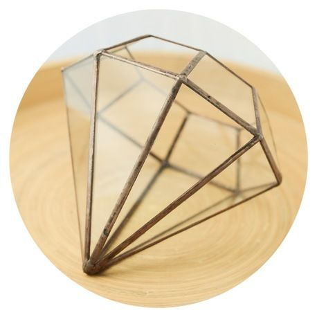 Custom made Solder Terrarium glass housing for plants and decorations. product code: 'Diamond' by Mei Studio
