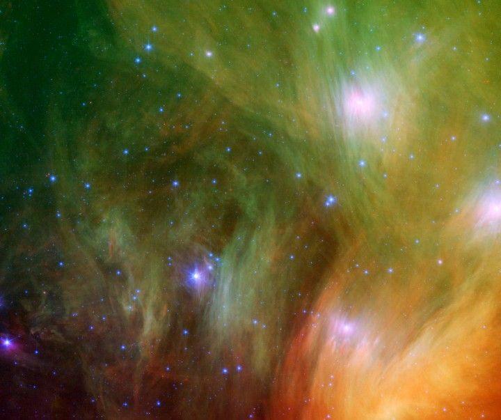 """Nebulosas 'Plêiades' ou '7 Irmãs'= Cluster M45. """"Constelação de Taurus""""."""
