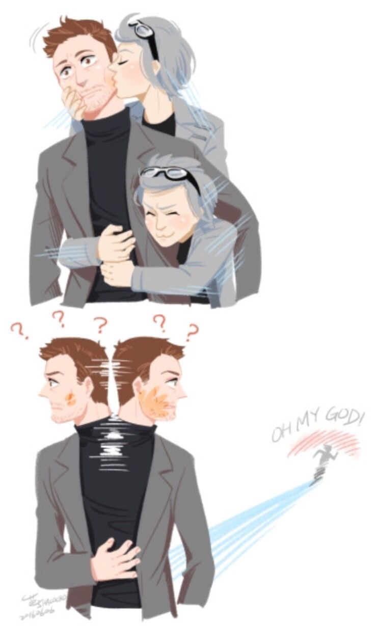 Magneto and quicksilver - father and son