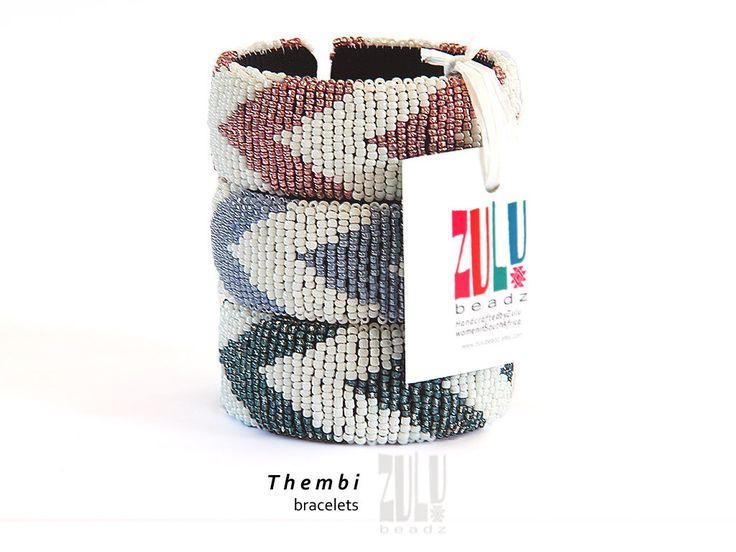 THEMBI - Zulu Beaded Bracelet - Pink/White by ZuluBeadz on Etsy