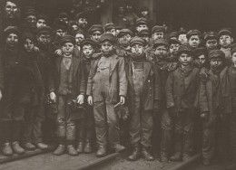 These boys probably all worked for the master chimney sweep in the upper left corner. He is also very short, indicating that he was probably an apprentice as a child, too.