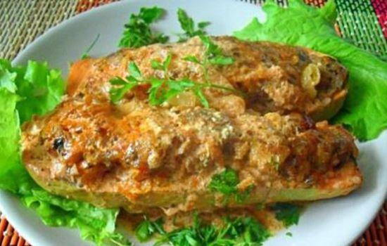 Рецепты кабачков фаршированных фаршем с сыром в духовке, секреты