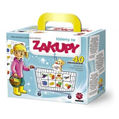 Gra edukacyjna, która łączy elementy nauki i zabawy, podczas której dziecko uczy się kojarzyć i rozpoznawać poszczególne artykuły z którymi spotyka się podczas dokonywania zakupów.WIEK: 3-8 lat