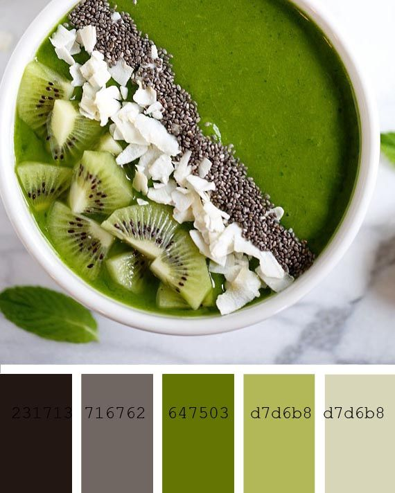 greenery smoothie recipe and color palette