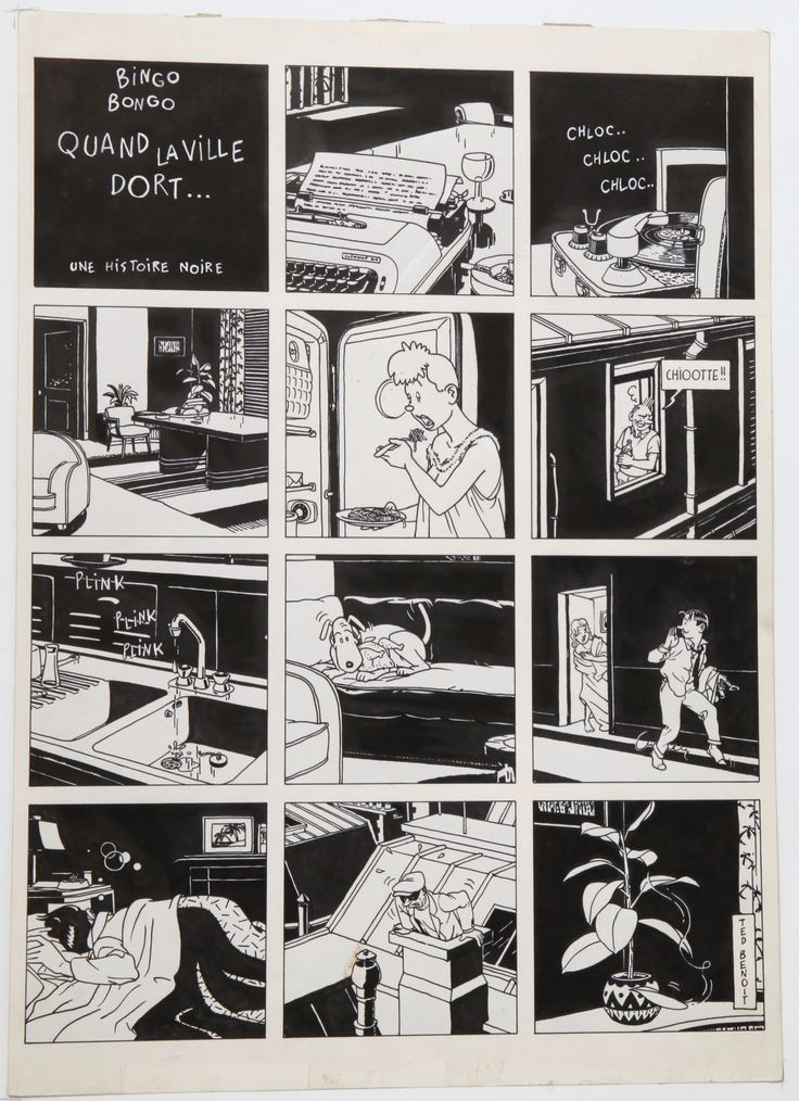 Quand la ville dort ... by Ted Benoît - Comic Strip