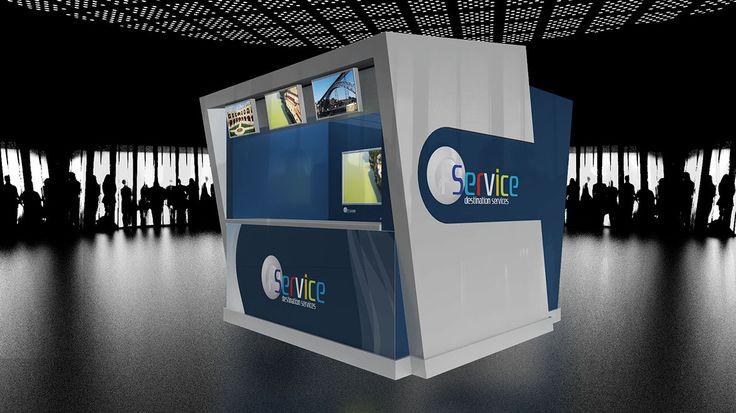 Concepção / Produção de loja/balcão, fornecimento de equipamentos e plataforma multimédia Aeroporto de Lisboa para FService - FS Group.