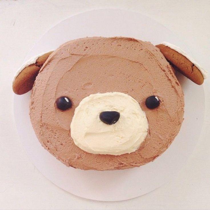 tarta bonita de cachorro kawaii