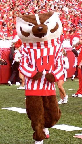 Wisconsin Badgers Football mascot Bucky Badger
