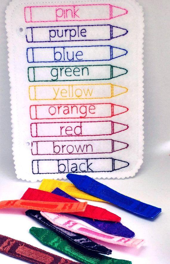 I Feel Quiet Book – Toddler Quiet Book – Quiet Book Page – Toddler Busy Book – Book Busy Page – Felt Book – Crayon Game # QB19