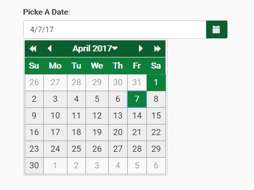 ab-datepicker is an accessible, highly-customizable, multi-language #jQuery date picker plugin for Bootstrap that complies with the recommendations of the W3C WAI-ARIA Authoring Practices.
