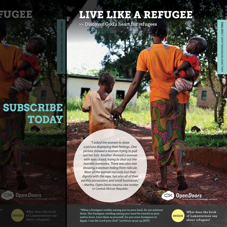 Be #inspired and #challenged by the faith of our displaced brothers and sisters in Christ by signing up for our 'Live Like a Refugee' series here: