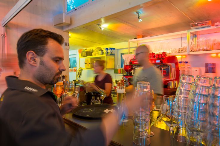 Bar men in action