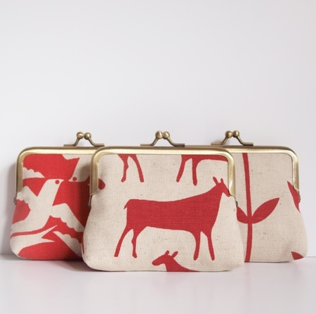 Purses with fabric from skinny laminx!