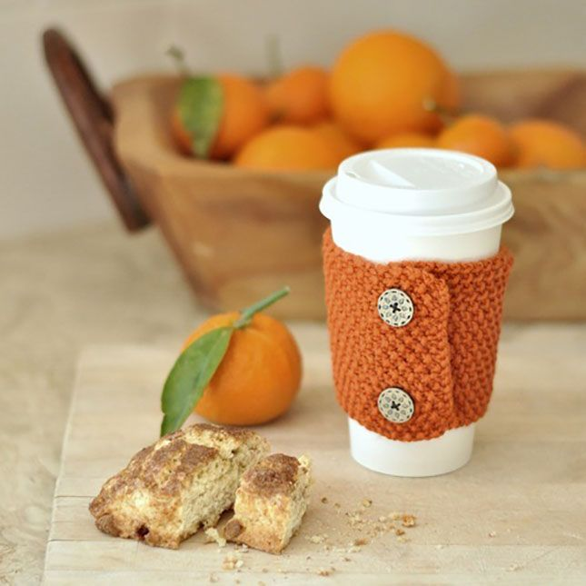 DIY a cozy coffee holder with this tutorial.