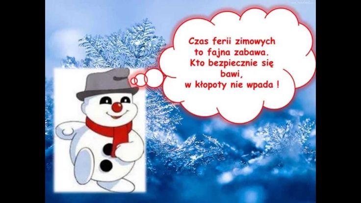 Bezpieczne ferie zimowe.