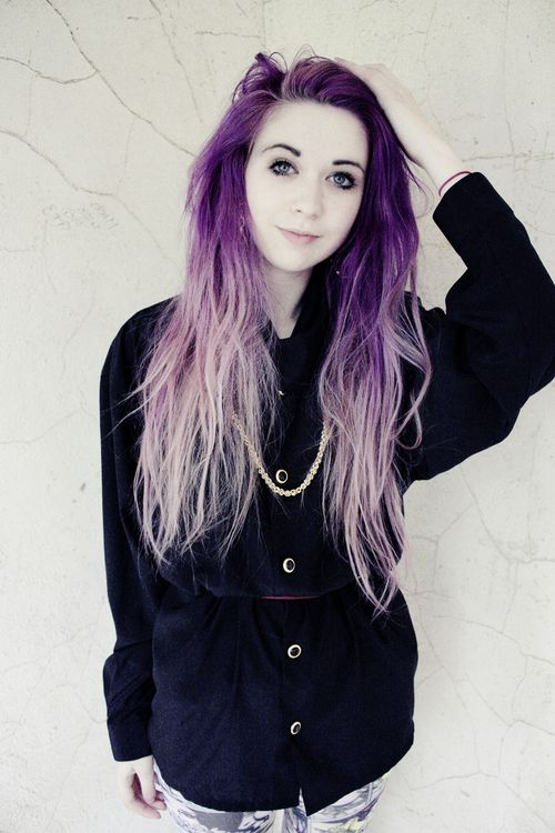 faded purple hair ideas