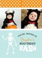 Cute kids Halloween birthday invitation